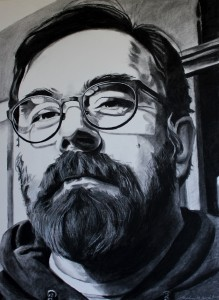 """The Smartest Man I Know,"" charcoal, 21"" x 29"", 2014"